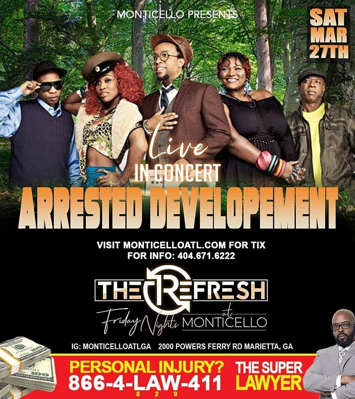 NEW DATE- Arrested Development Live in Concert Sat., March 27th image
