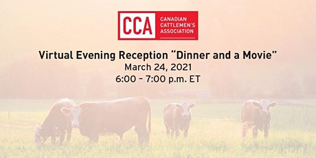 "CCA Virtual Reception  ""Dinner and a Movie"" tickets"