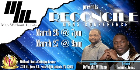 """Men Without Limits Presents """"RECONCILE"""" tickets"""
