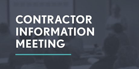 Pioneer Contractor Information Meeting tickets