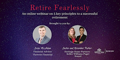 """""""Retire Fearlessly: An online webinar to have a successful retirement tickets"""