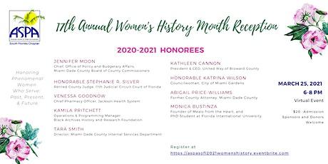 2020-2021 ASPA SoFL Women's History Month Reception tickets