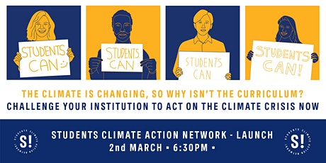 Students Climate Action Network Launch tickets