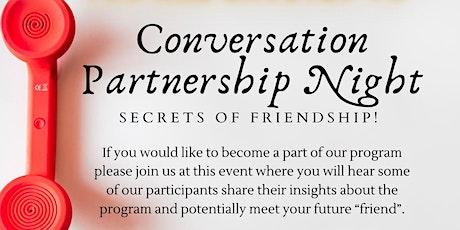 Conversation Partnership Night tickets