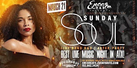 Sunday Soul: Live Band  & After-Party   3/21 tickets