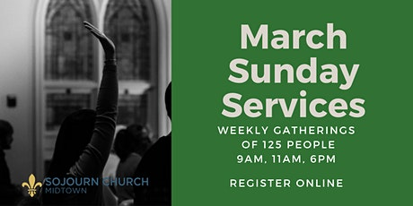 March 7,2021  Sunday Service Registration tickets