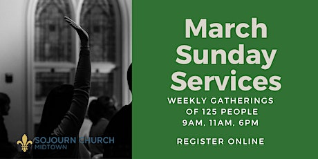 March 14,2021  Sunday Service Registration tickets
