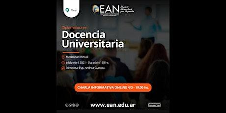 Charla Informativa: Diplomatura en Docencia Universitaria entradas