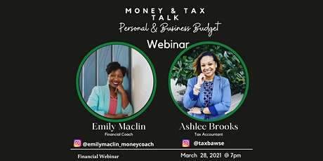 Money & Tax Talk Series: Personal & Business Budget tickets