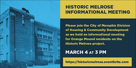 Historic Melrose Community Meeting tickets