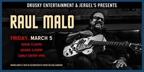 Raul Malo (Early Show) tickets