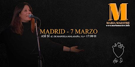 Concierto María Maestre en Así Sí (Malasaña) entradas