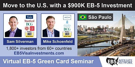 U.S. Green Card Virtual Seminar – São Paulo, Brazil ingressos