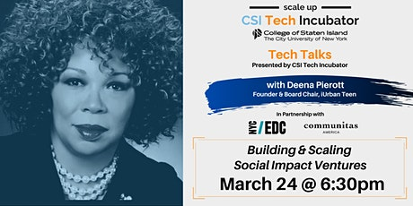 Tech Talks | Deena Pierott, Founder of iUrban Teen tickets