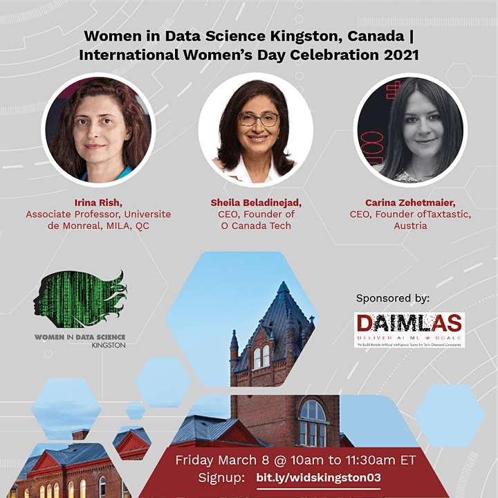 2021 Women in Data Science Kingston, Canada Mini-Conference image