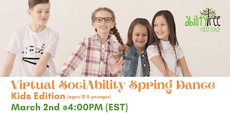 Virtual SociAbility Spring Dance: Kid Edition tickets