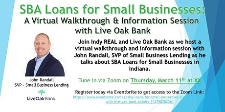 SBA Loans for Small Businesses: A Virtual Event with Live Oak Bank tickets