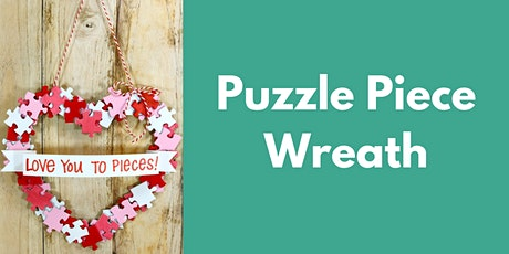 Tween/ Teen Craft Kit - Puzzle Piece Wreath tickets