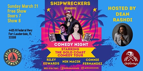 Shipwreckers Comedy Show Starring The Gold Coast Comedy Tour tickets