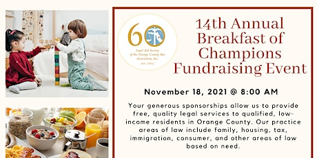 14th Annual Breakfast of Champions Fundraiser tickets