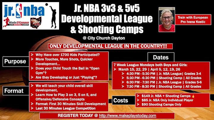 Jr. NBA  & Shooting Camps - Make Plays Today - Spring 2021 image