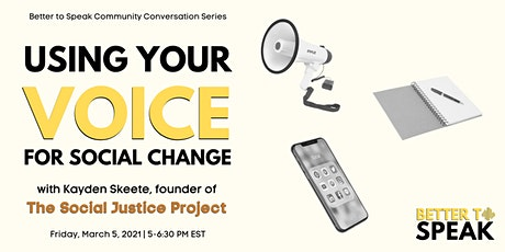 Community Conversations: Using Your Voice for Social Change tickets