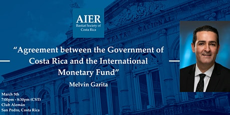 """Costa Rica: """"Agreement between the Government and the IMF"""" tickets"""