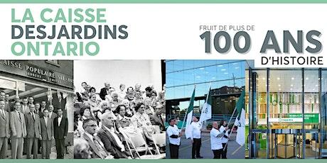 Dîner-causerie : Caisse Desjardins Ontario : Plus de 100 ans d'histoire billets