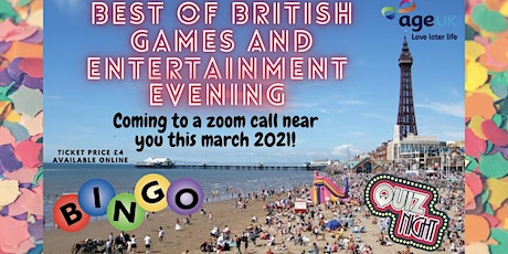 Best of British Games and Entertainment Evening for AgeUK tickets
