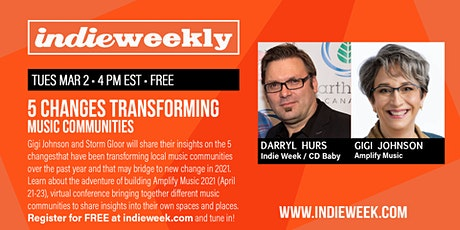 INDIE WEEKLY:  5 Changes Transforming Music Communities! tickets