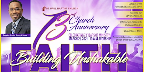 73rd Church Anniversary tickets