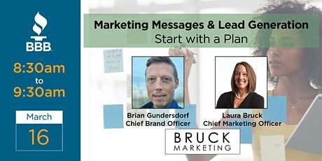 Marketing Messages & Lead Generation – Start with a Plan tickets