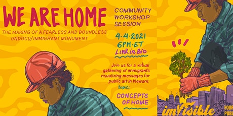 We Are Home Mural Workshop: concepts of home tickets