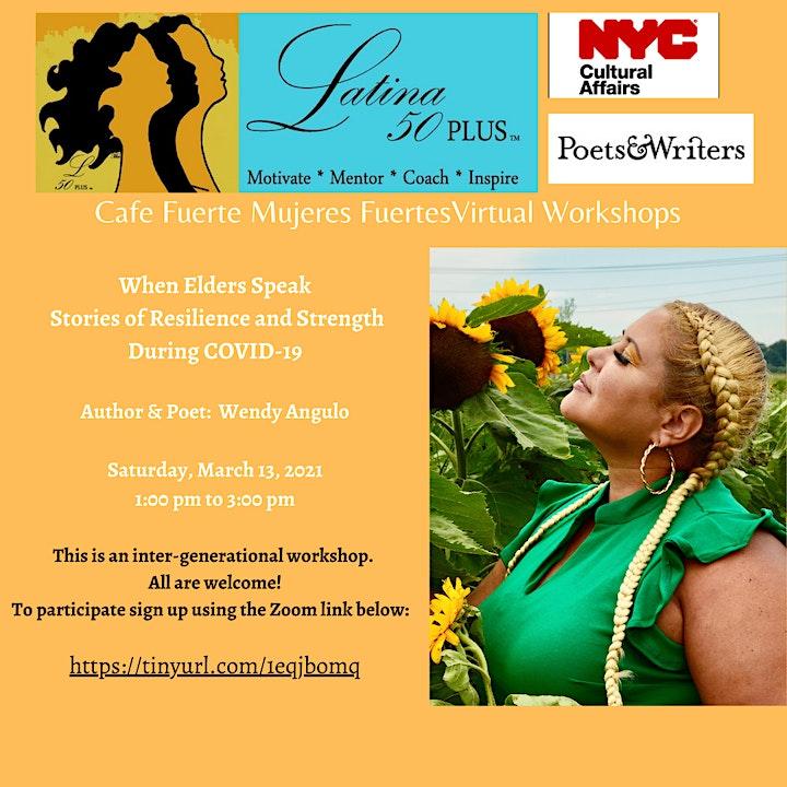 Cafe Fuerte Mujeres Fuerte Writing Workshop image