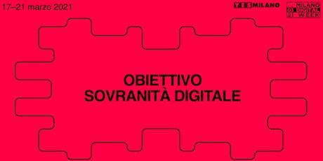 Obiettivo Sovranità Digitale | Milano Digital Week biglietti