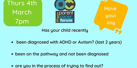Feedback session on Neurodevelopmental Pathway  Wigan tickets