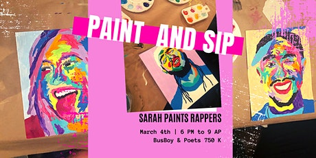 Rappers Paint and Sip @ Busboy and Poets with Sarah Paints Rappers tickets