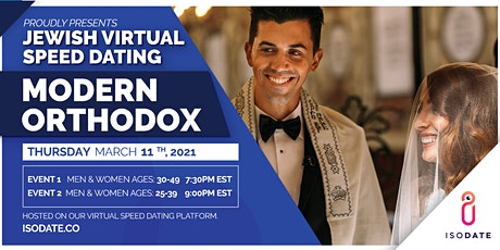 Isodate's Modern Orthodox Jewish Virtual Speed Dating tickets