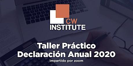 Taller Práctico Declaración Anual 2020 entradas