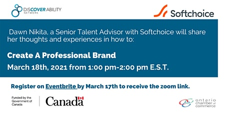 Creating a professional brand during job search tickets