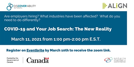 COVID-19 and Your Job Search: The New Reality tickets