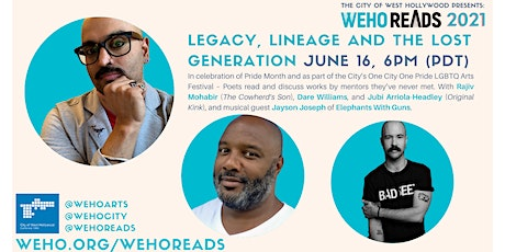 WeHo Reads Presents:  Rajiv Mohabir, Jubi Arriola-Headley and Dare Williams tickets