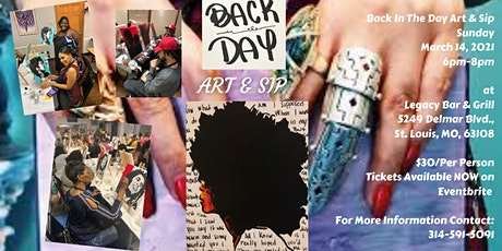 """Back in the Day"" Art & Sip tickets"