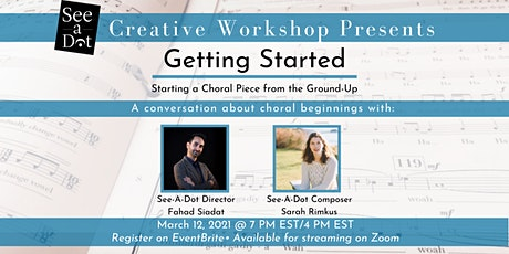"""See-A-Dot Creative Workshop Presents """"Getting Started"""" tickets"""