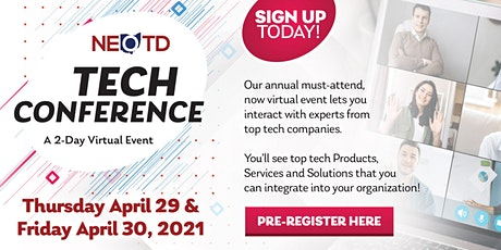 NEOTD Tech Conference - 2 Day Virtual Event on April 29th & 30th, 2021 tickets