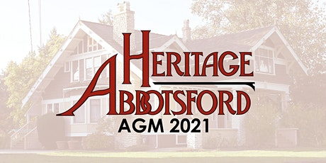 Heritage Abbotsford Society AGM 2021 tickets
