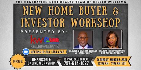 Know Better... Do Better!! Home Buyer & Investor Workshop tickets