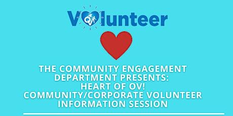 Heart of OV - Community/Corporate Volunteer Information Session tickets