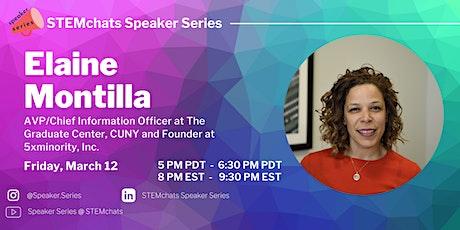Speaker Series webinar with Elaine Montilla tickets