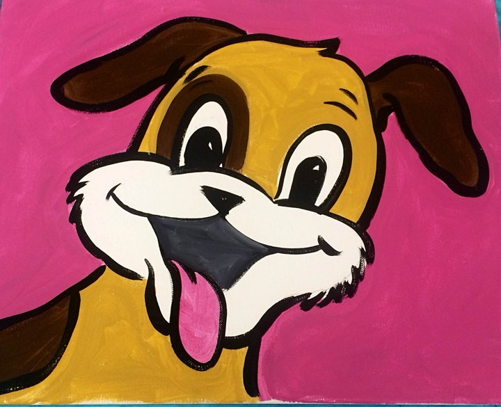 Online Dog Painting Art Class.  All ages are welcome. image